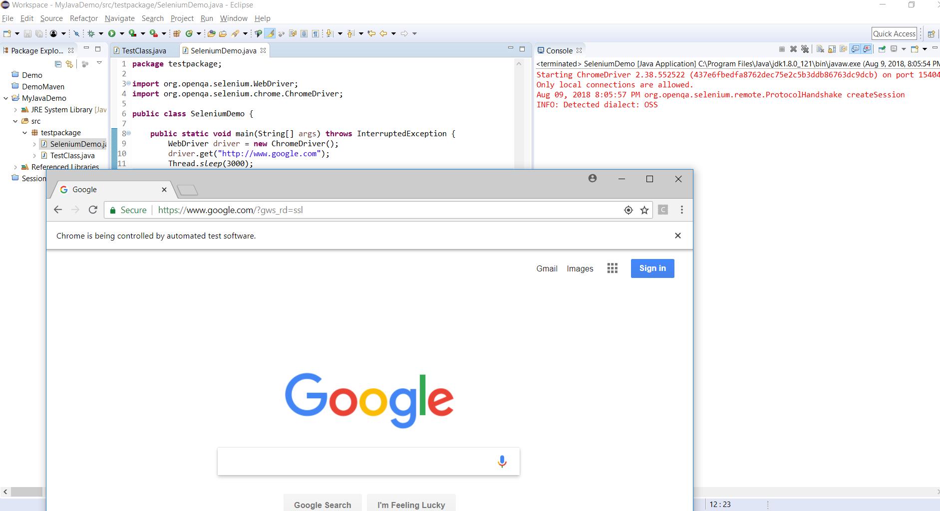 Setup Java-Selenium Webdriver from scratch and Run a Sample